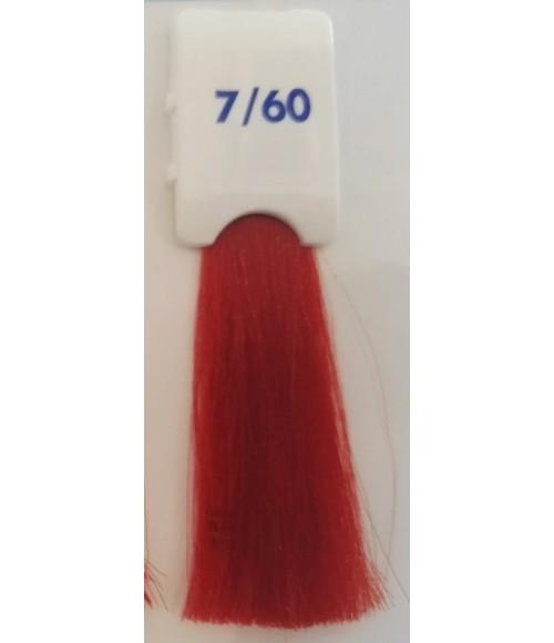 Tinta senza ammoniaca Biondo Rosso Caldo 7/60 100 ml Bionic Inebrya Color - prodotti per parrucchieri - hairevolution prodotti