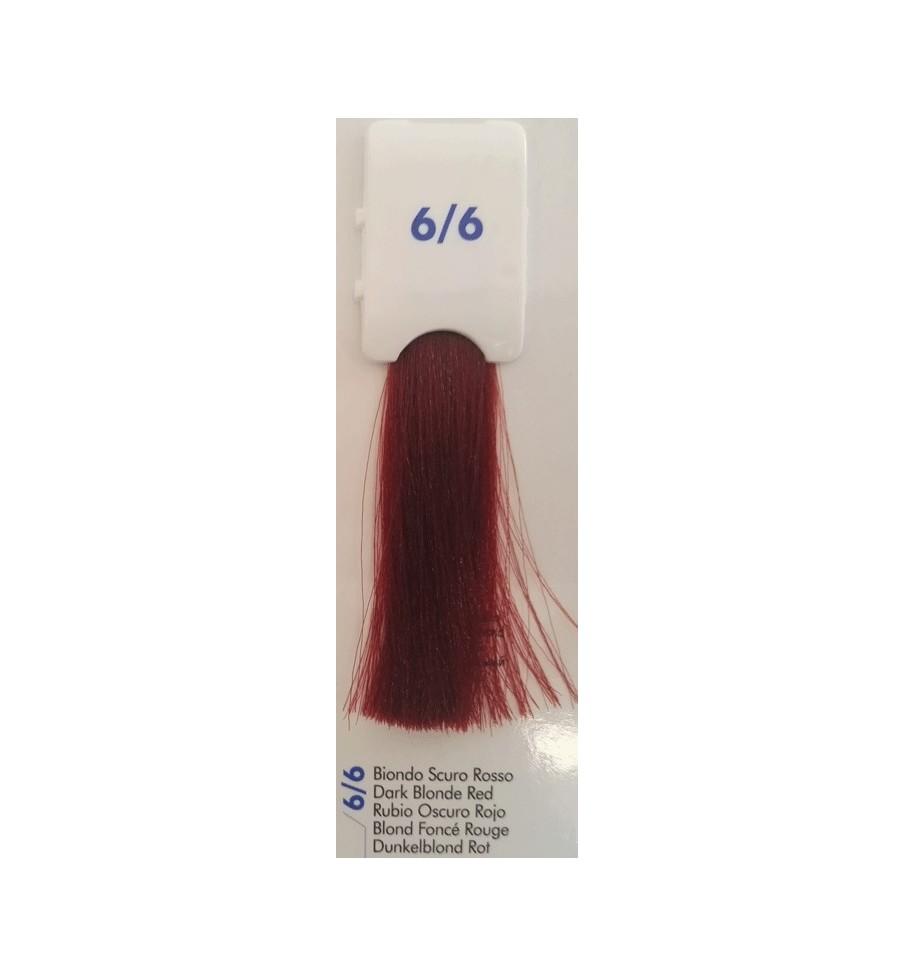 Tinta senza ammoniaca Biondo Scuro Rosso 6/6 100 ML Bionic Inebrya Color - prodotti per parrucchieri - hairevolution prodotti