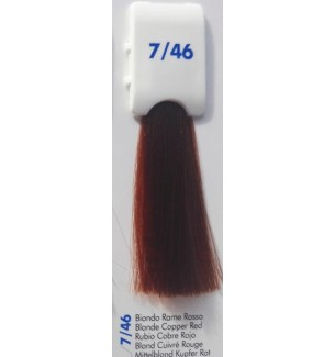 Tinta senza ammoniaca Biondo Rame Rosso 7/46 100ml Bionic Inebrya Color