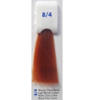 Tinta senza ammoniaca Biondo Chiaro Rame 8/4 100 ml Bionic Inebrya Color - prodotti per parrucchieri - hairevolution prodotti