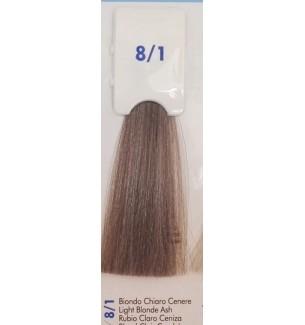 Tinta senza ammoniaca Biondo Chiaro Cenere 8/1 100 ml Bionic Inebrya Color - prodotti per parrucchieri - hairevolution prodotti