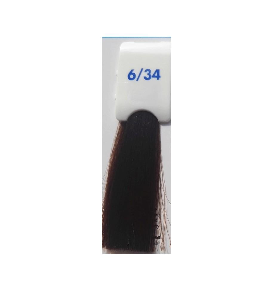 Tinta senza ammoniaca Biondo Scuro Dorato Rame 6/34 100 ML Bionic Inebrya Color - prodotti per parrucchieri - hairevolution p...