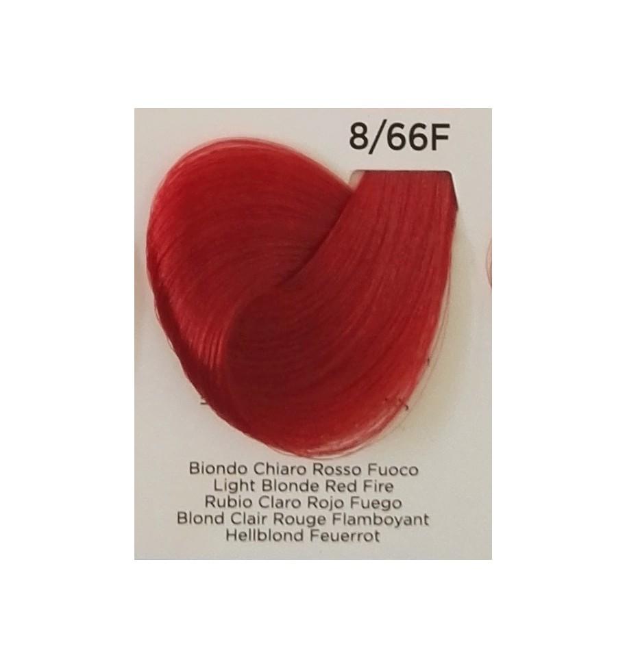 Tinta Biondo Chiaro Rosso Fuoco 8/66F 100 ML Inebrya Color - prodotti per parrucchieri - hairevolution prodotti
