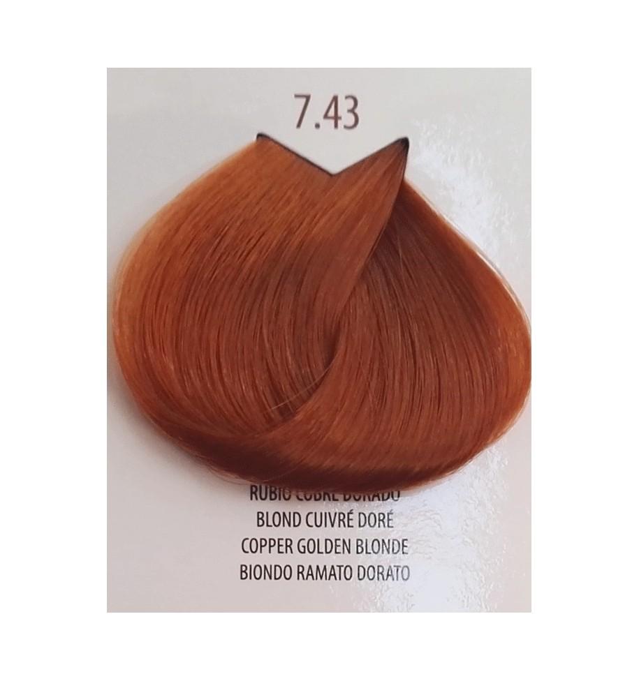Tinta Biondo Ramato Dorato 7.43 Life Color Plus100 ML - prodotti per parrucchieri - hairevolution prodotti