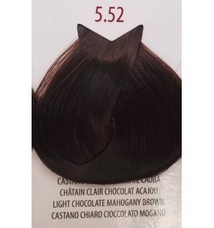 Tinta per capelli Castano Chiaro Cioccolato Mogano 5.52 Life Color Plus 100 ML - prodotti per parrucchieri - hairevolution pr...