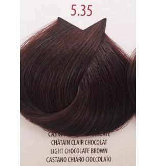 Tinta per capelli Castano Chiaro Cioccolato 5.35 Life Color Plus 100 ML - prodotti per parrucchieri - hairevolution prodotti