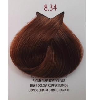 Tinta per capelli Biondo Chiaro Dorato Ramato 8.34 Life Color Plus 100 ML - prodotti per parrucchieri - hairevolution prodotti