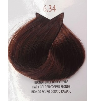 Tinta colore Biondo Scuro Dorato Ramato 6.34 Life Color Plus 6.34 LIFE COLOR PLUS 100 ML - prodotti per parrucchieri - hairev...