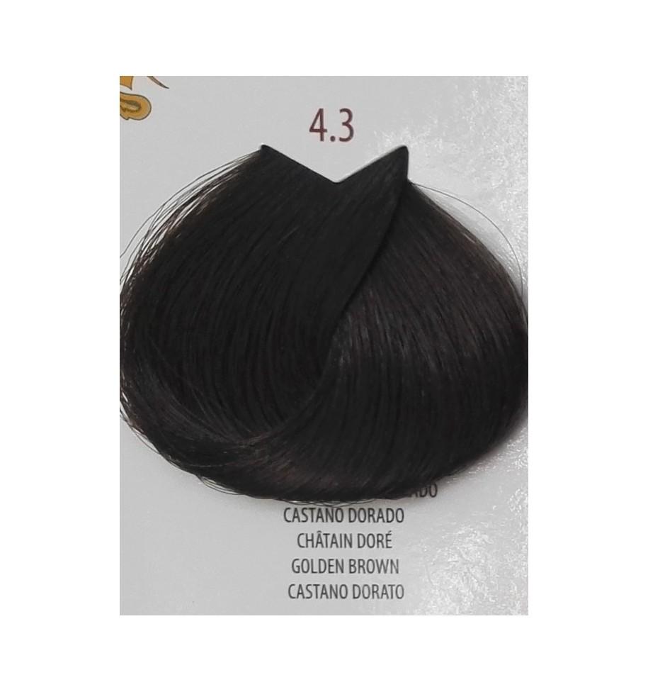 Tinta per capelli Castano Dorato 4.3 Life Color Plus 100 ML - prodotti per parrucchieri - hairevolution prodotti