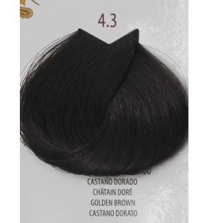 Tinta per capelli Castano Dorato 4.3 Life Color Plus 100 ML