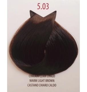Tinta colore Castano Chiaro Caldo 5.03 Life Color Plus 100 ML - prodotti per parrucchieri - hairevolution prodotti