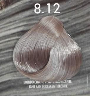 Tinta per capelli Biondo Chiaro Cenere Iridescente 8.12 Life Color Plus Mineral 100 ML - prodotti per parrucchieri - hairevol...