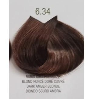 Tinta senza ammoniaca per capelli Biondo Scuro Ambra 6.34 B.Life Color