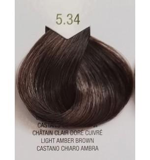 Tinta senza ammoniaca per capelli Castano Chiaro Ambra 5.34 B.Life Color - prodotti per parrucchieri - hairevolution prodotti