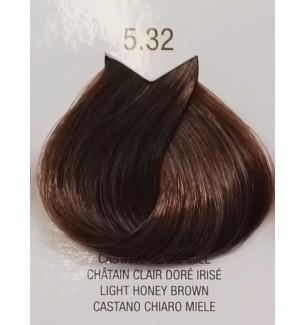Tinta senza ammoniaca per capelli Castano Chiaro Miele 5.32 B.Life Color