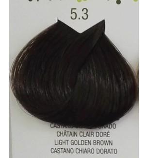 Tinta senza ammoniaca Castano Chiaro Dorato 5.3 B.Life Color 100 ML - prodotti per parrucchieri - hairevolution prodotti