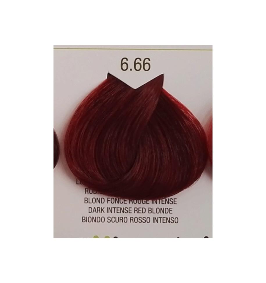 Tinta senza ammoniaca Biondo Scuro Rosso Intenso 6.66 B.Life Color 100 ML - prodotti per parrucchieri - hairevolution prodotti