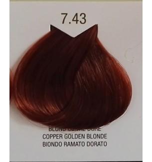 BIONDO RAMATO DORATO 7.43 B.LIFE COLOR 100 ML - prodotti per parrucchieri - hairevolution prodotti