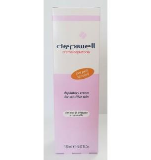 Crema depilatoria per pelli sensibili 150 ml Depiwell