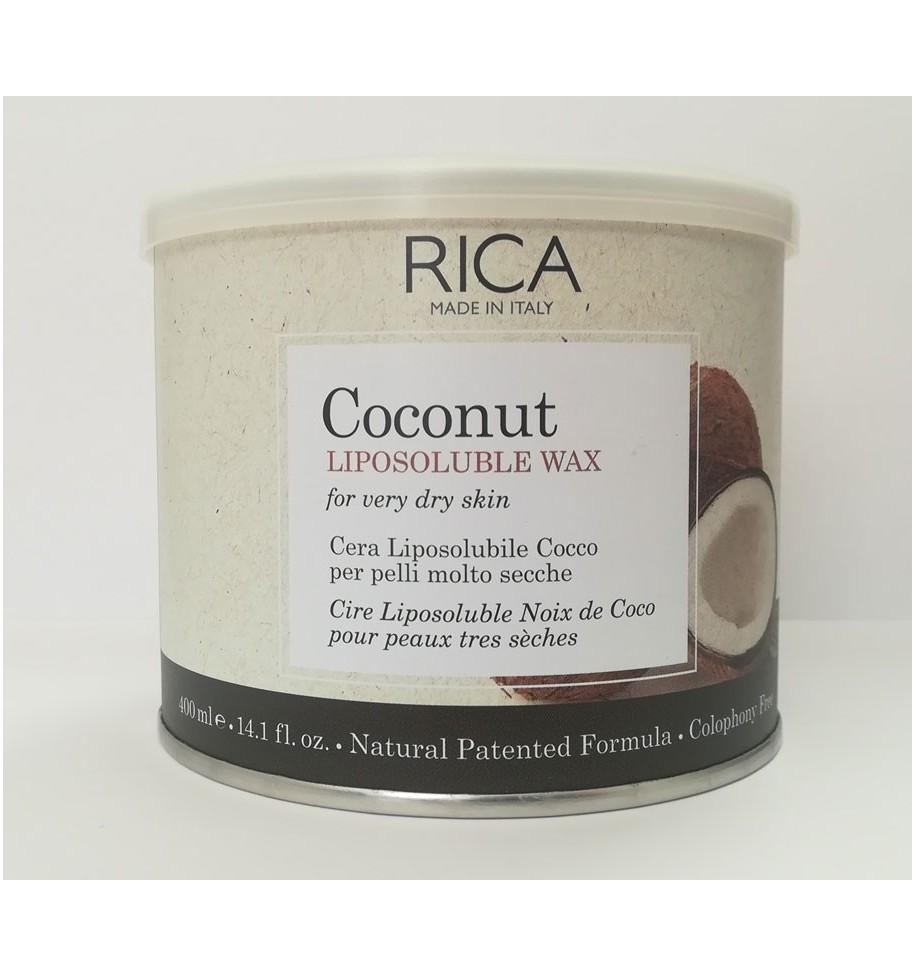 Ceretta Depilatoria Vaso al Cocco per Pelli molto Secche 400 ML RICA - prodotti per parrucchieri - hairevolution prodotti