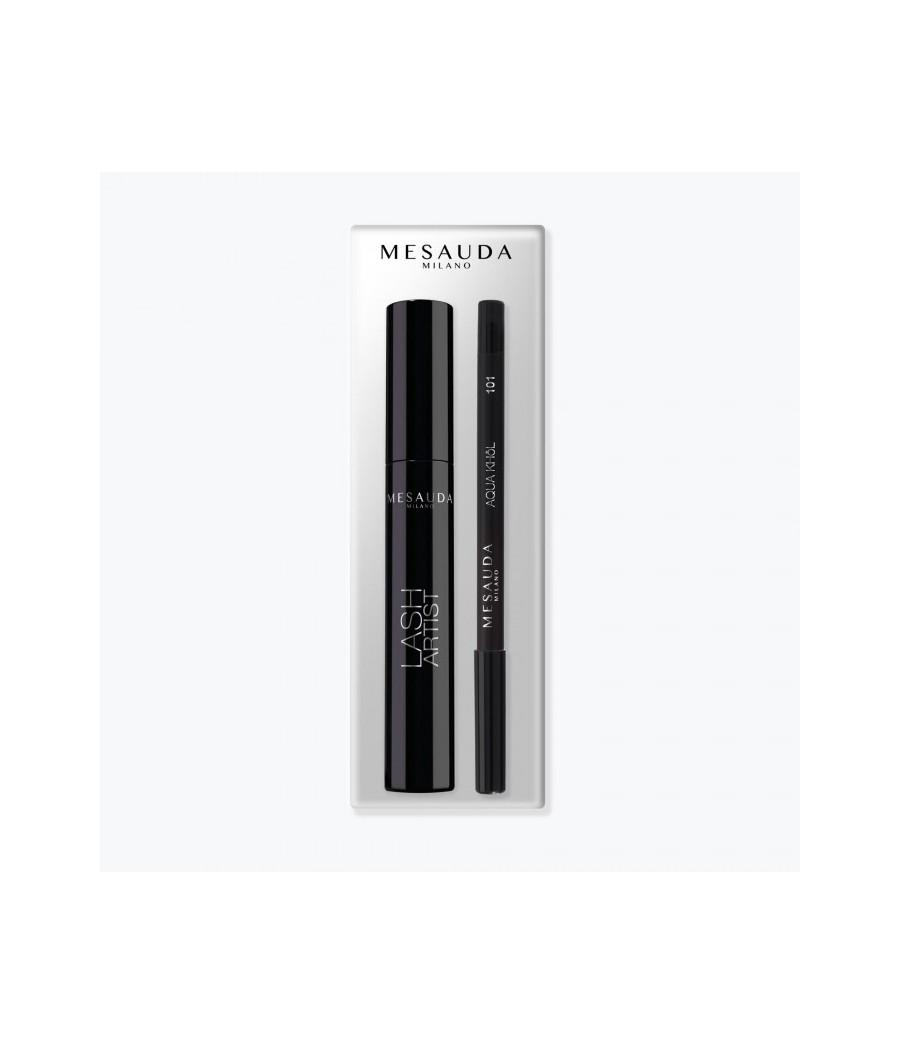 Kit Mascara Lash Artist e Matita Aqua Khol 101 Mesauda - prodotti per parrucchieri - hairevolution prodotti