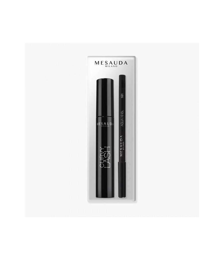 Kit Mascara Curvy Lash e Matita Aqua Khol 101 Mesauda - prodotti per parrucchieri - hairevolution prodotti