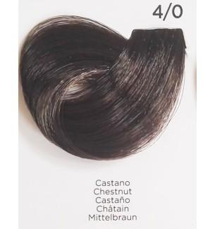 Tinta per capelli Castano 4/0 100 ml Inebrya Color - prodotti per parrucchieri - hairevolution prodotti