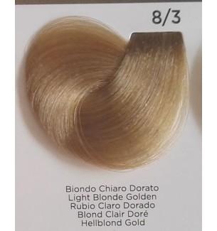 Tinta colore Biondo Chiaro Dorato 8/3 Inebrya Color - prodotti per parrucchieri - hairevolution prodotti