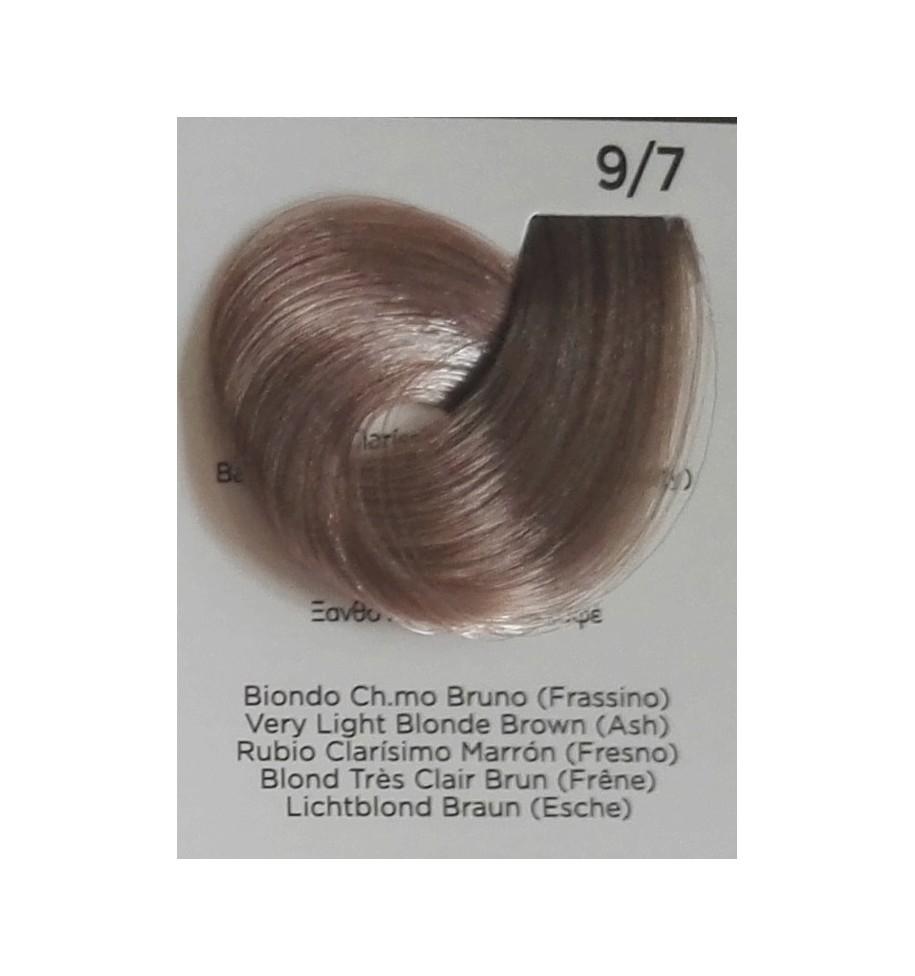 Tinta per capelli Biondo Chiarissimo Bruno (Frassino) 9/7100 ml Inebrya Color - prodotti per parrucchieri - hairevolution pro...