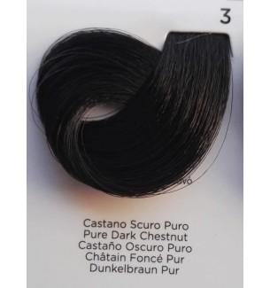 Tinta Castano Scuro Puro 3 100 ml Inebrya Color