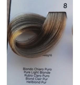 Tinta per capelli Biondo Chiaro Puro 8 100 ml Inebrya Color - prodotti per parrucchieri - hairevolution prodotti