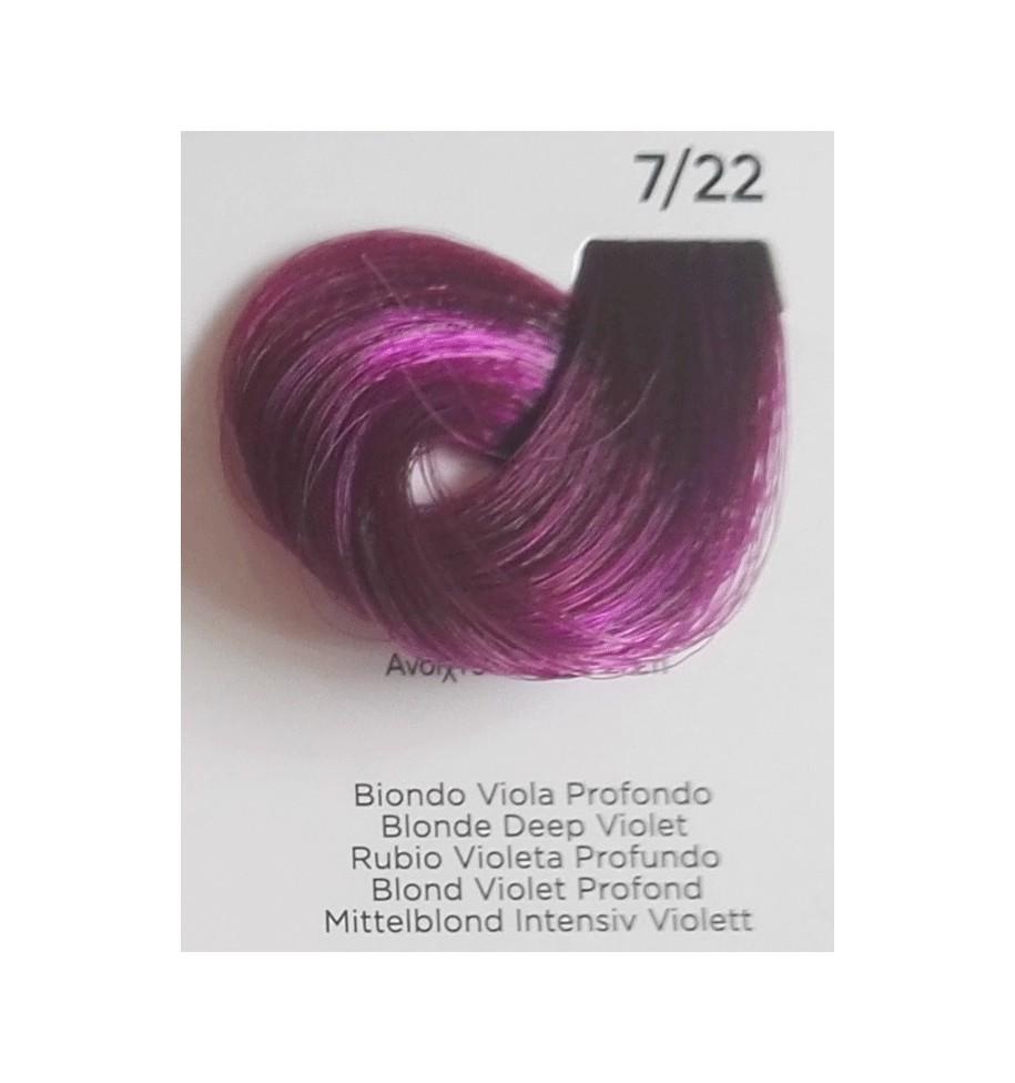 Tinta Biondo Viola Profondo 7/22 100 ml Inebrya Color - prodotti per parrucchieri - hairevolution prodotti