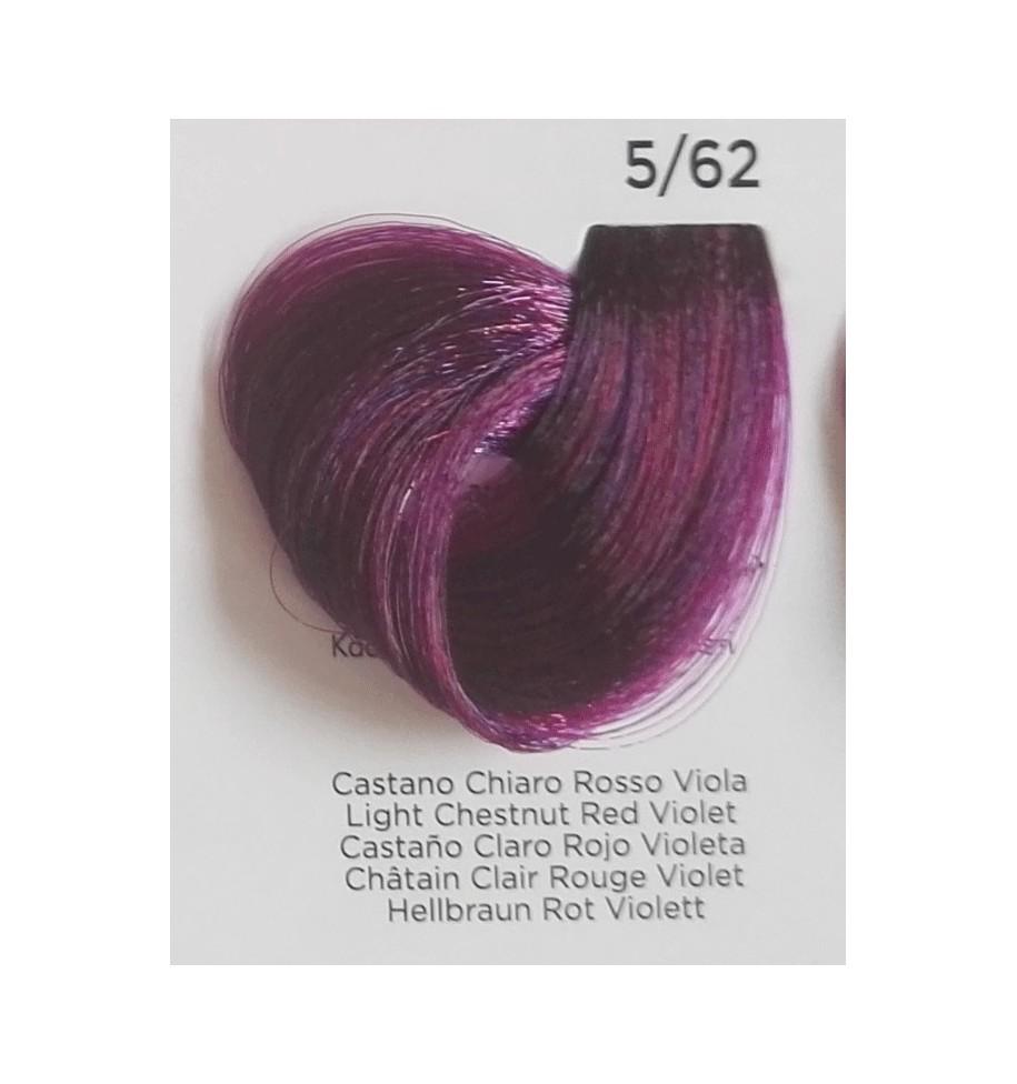Tinta Castano Chiaro Rosso Viola 5/62 100 ml Inebrya Color - prodotti per parrucchieri - hairevolution prodotti