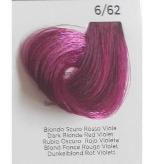 Tinta per capelli Biondo Scuro Rosso Viola 6/62 100 ml Inebrya Color