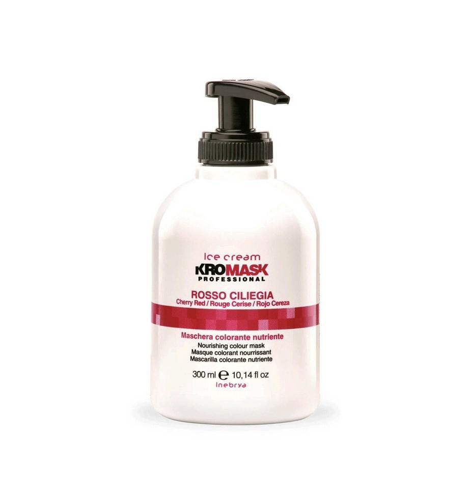 Maschera Colorante Nutriente Kromask Rosso Ciliegia 300ml Inebrya - prodotti per parrucchieri - hairevolution prodotti