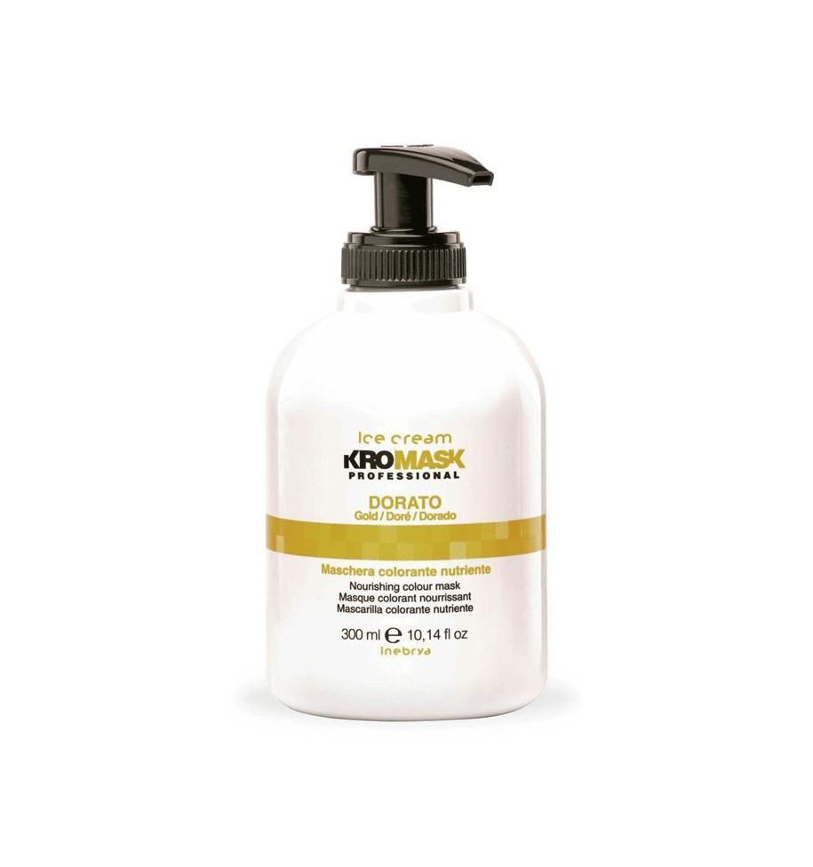 Maschera Colorante Nutriente Kromask Dorato 300ml Inebrya - prodotti per parrucchieri - hairevolution prodotti